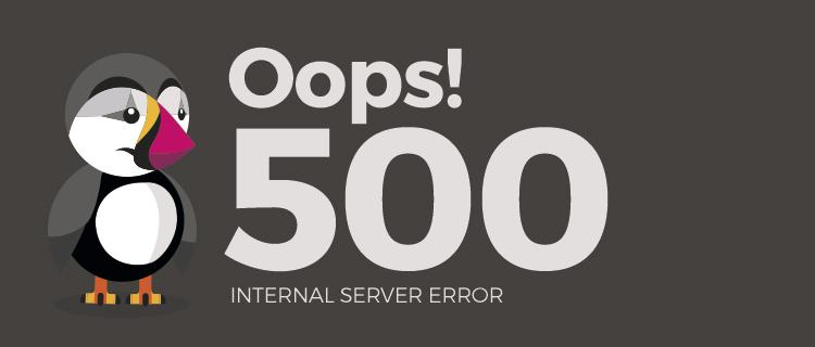 Internal server error PrestaShop
