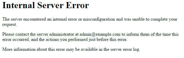 What is a 500 error?