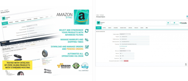 Amazon Sync Marketplace Modulo PrestaShop Addons