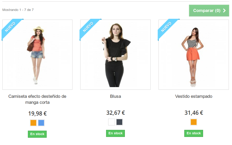 Demo Productos PrestaShop 1.6