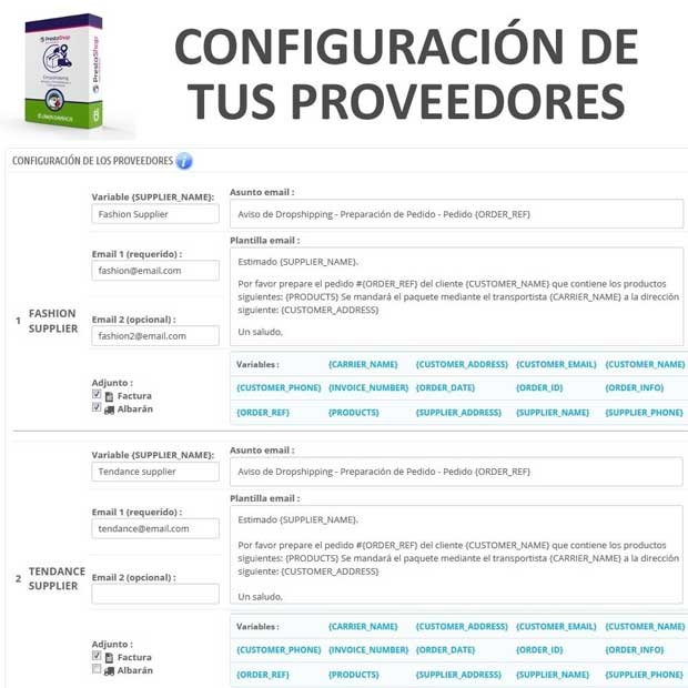 Módulo	Dropshipping – Emails a Proveedores y Transportistas