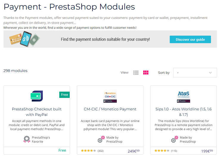 PrestaShop Checkout solutions