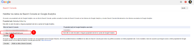 search console 07 verificacion analytics